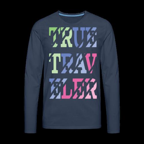 TrueTraveler - Miesten premium pitkähihainen t-paita