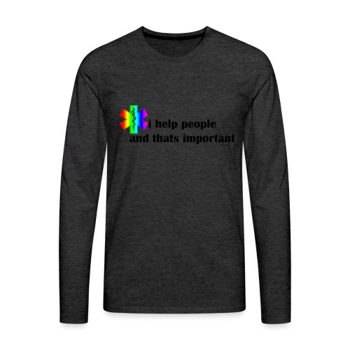 i help people - Mannen Premium shirt met lange mouwen