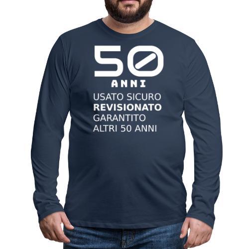 50 anni. Buon compleanno divertente - Maglietta Premium a manica lunga da uomo