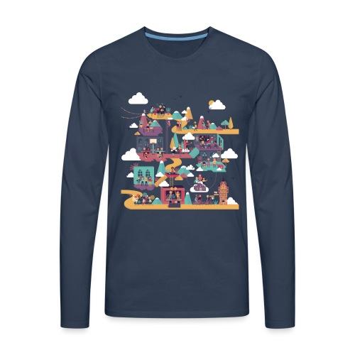 T-shirt Vie À Saint André 104 - T-shirt manches longues Premium Homme