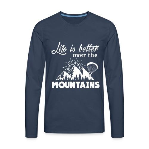 Paragliding T Shirt - Life is better - T-shirt manches longues Premium Homme