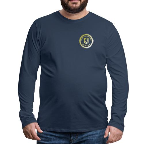 Logo klein ESU gold - Männer Premium Langarmshirt