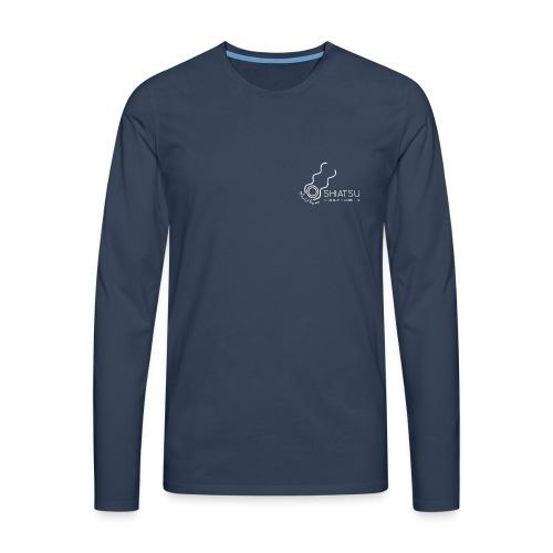 szk Shiatsu weiss - Männer Premium Langarmshirt