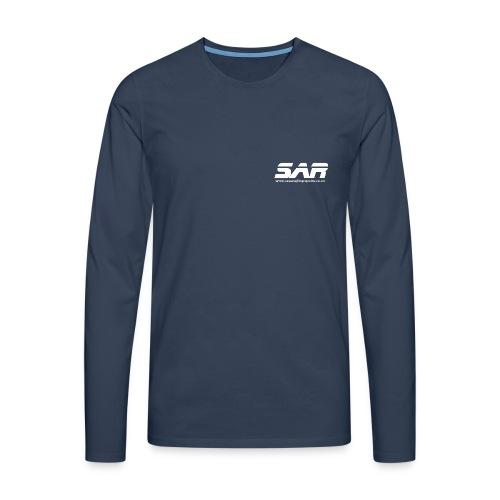 sar logo white ontransparent - Men's Premium Longsleeve Shirt