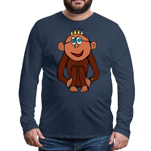 Ali le singe - T-shirt manches longues Premium Homme