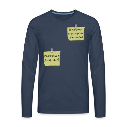 humoristique post-it - T-shirt manches longues Premium Homme