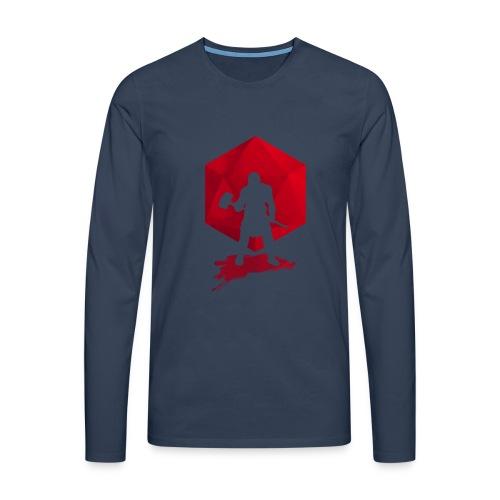 Brutal Barbarian - Dungeons and Dragons dnd d20 - Miesten premium pitkähihainen t-paita