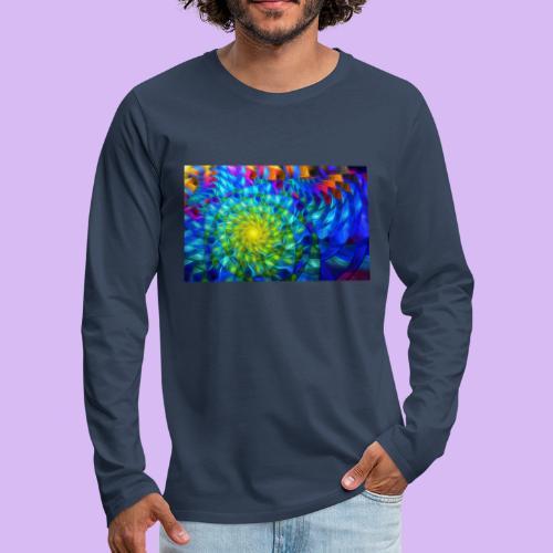 Astratto luminoso - Maglietta Premium a manica lunga da uomo