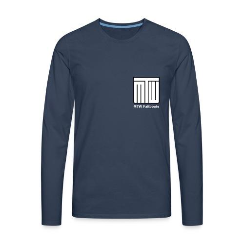 mtw logo weisser text spreadshirt - Männer Premium Langarmshirt