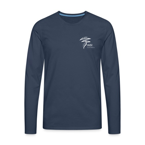 skiers-with-text - Men's Premium Longsleeve Shirt