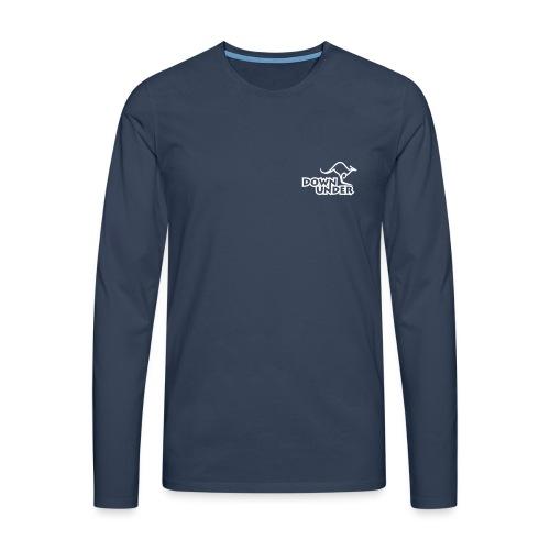 Down Under Single-Logo - Männer Premium Langarmshirt