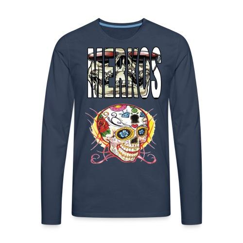 MERKOS CALAVERAS - Camiseta de manga larga premium hombre