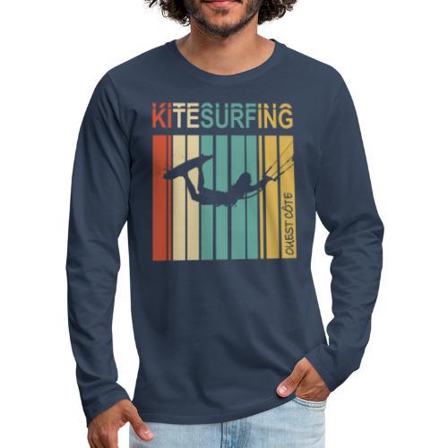 Kitesurfing Ouest Côte - T-shirt manches longues Premium Homme