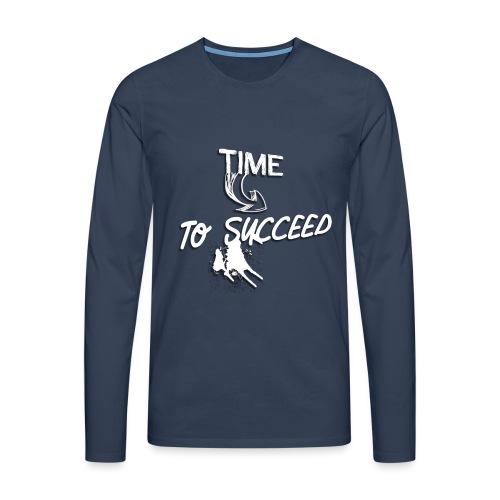 Het tijd - Mannen Premium shirt met lange mouwen