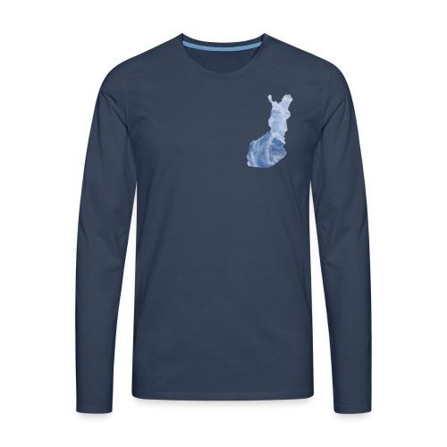 Suomi Finland - Miesten premium pitkähihainen t-paita
