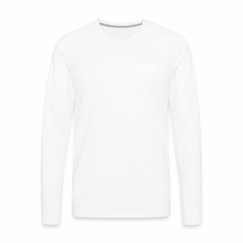 SIX ONE SEVEN 1 PROJECT LOGO FULL 1 WHITE - Men's Premium Longsleeve Shirt