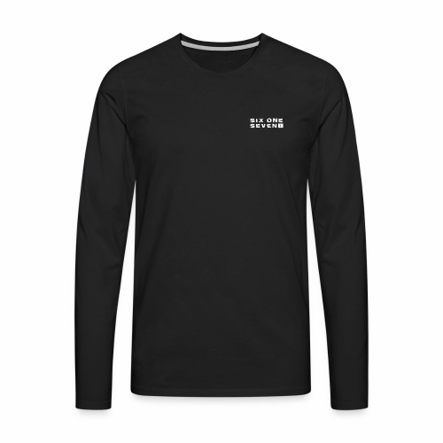 SIX ONE SEVEN 1 PROJECT LOGO FULL 1 WHITE - Men's Premium Longsleeve Shirt