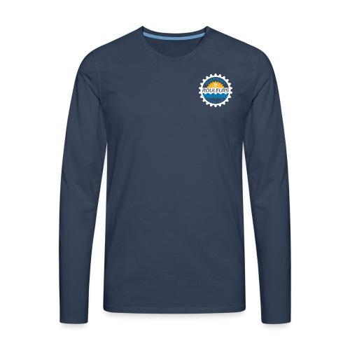 Guernsey Rouleurs Small Reversed Logo - Men's Premium Longsleeve Shirt