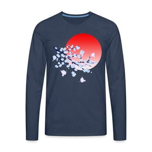 Cherry Blossom Festval Full Moon 4 - Männer Premium Langarmshirt