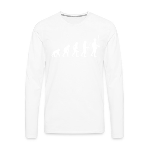 Evolution Stabführer weiß - Männer Premium Langarmshirt
