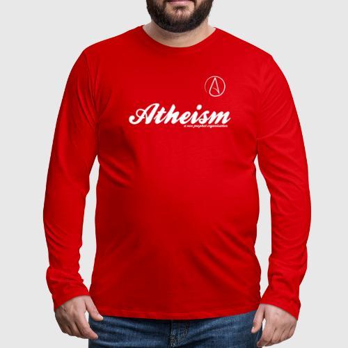 atheism white - Herre premium T-shirt med lange ærmer