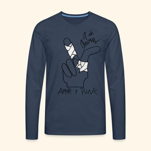 Amor y Punk II Black - Camiseta de manga larga premium hombre
