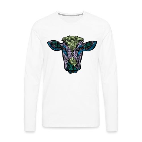 Cow - Premium langermet T-skjorte for menn