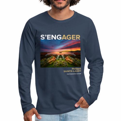 1 Achat = 1 Don à l'association Coeur de forêt - T-shirt manches longues Premium Homme