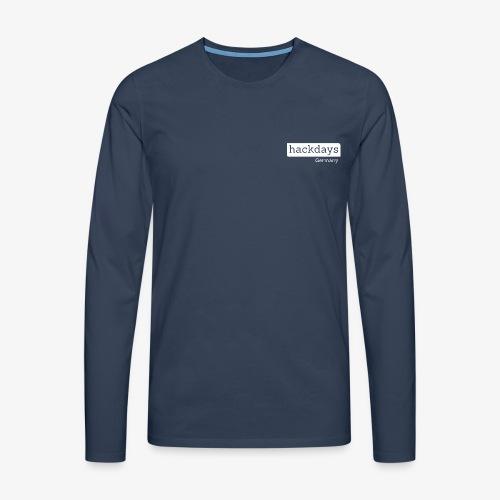 Hackdays - White Logo - Men's Premium Longsleeve Shirt