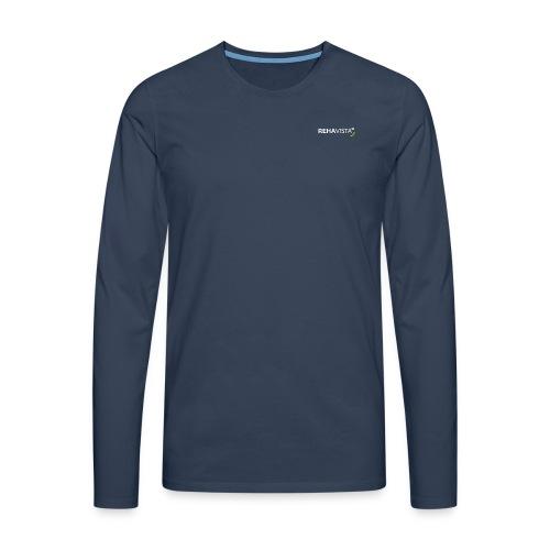 rehavista-logo-weiss-grue - Männer Premium Langarmshirt