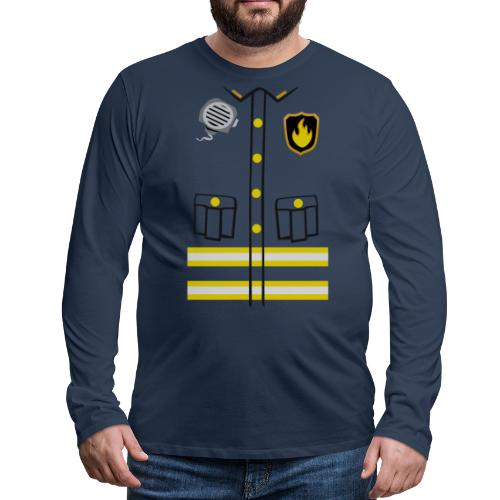 Firefighter Costume - Men's Premium Longsleeve Shirt