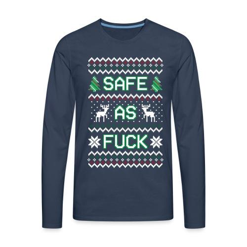 Christmas Jumper Safe AF - Men's Premium Longsleeve Shirt