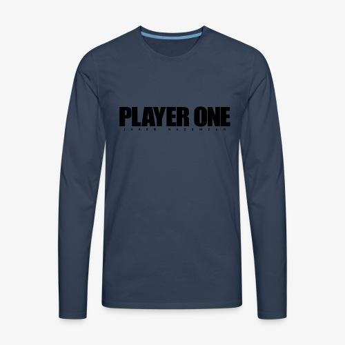 GET READY PLAYER ONE! - Herre premium T-shirt med lange ærmer