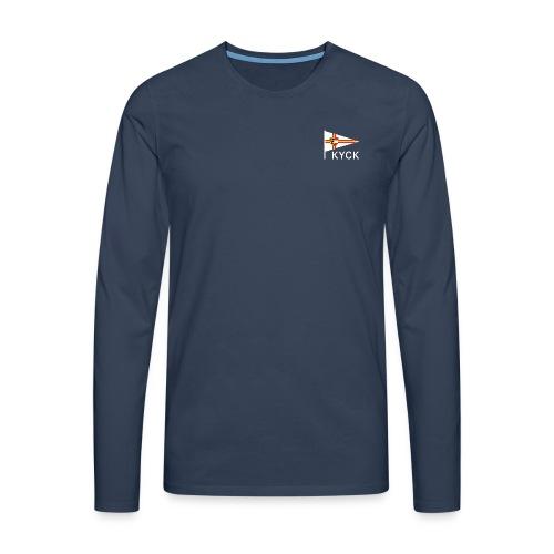KYCK - classic navy - Männer Premium Langarmshirt