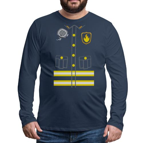 Fireman Costume - Dark edition - Men's Premium Longsleeve Shirt