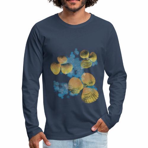 Orange Shells in Water / Conchiglie in acqua - Maglietta Premium a manica lunga da uomo