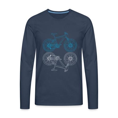 Mountainbike Fahrrad Radsport Skizze - Männer Premium Langarmshirt
