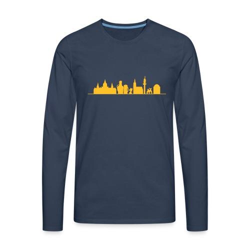 Skyline Hannover - Männer Premium Langarmshirt