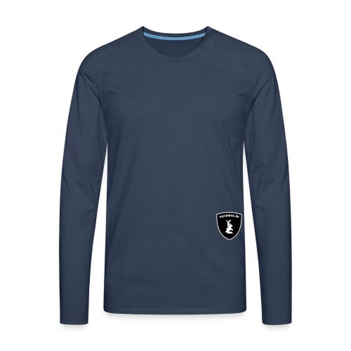 myrabbits wappen monochrom - Männer Premium Langarmshirt