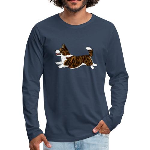 Welshcorgi7 - Miesten premium pitkähihainen t-paita