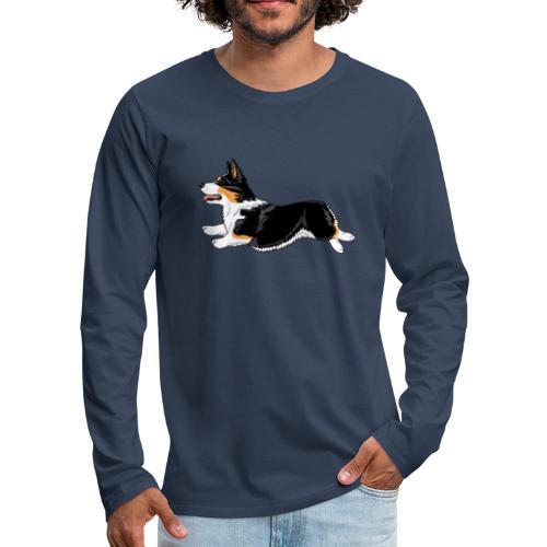 Welshcorgi2 - Miesten premium pitkähihainen t-paita