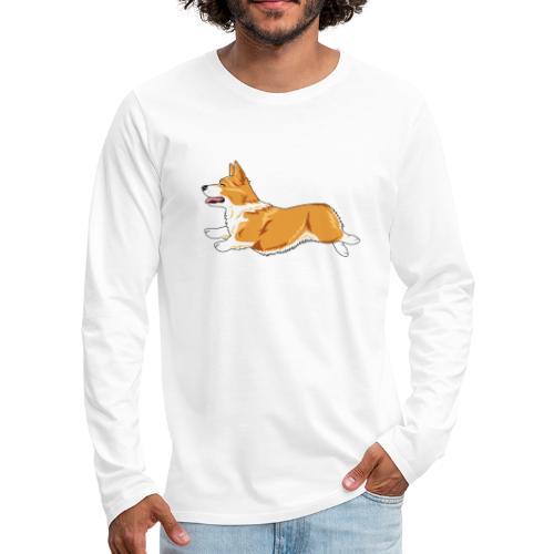 Welshcorgi4 - Miesten premium pitkähihainen t-paita