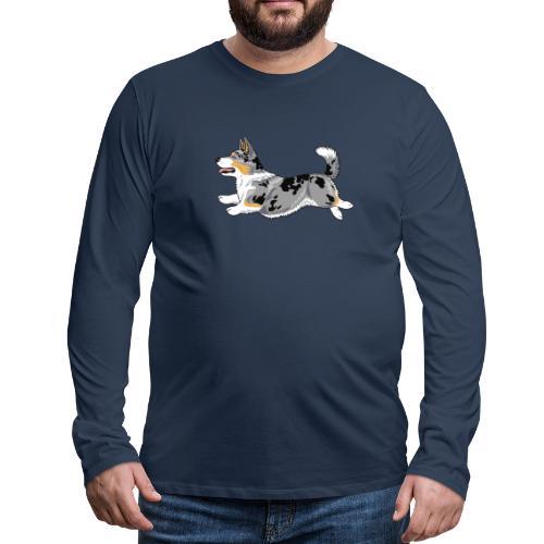 Welshcorgi5 - Miesten premium pitkähihainen t-paita
