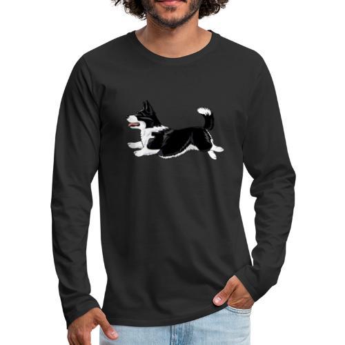 Welshcorgi - Miesten premium pitkähihainen t-paita