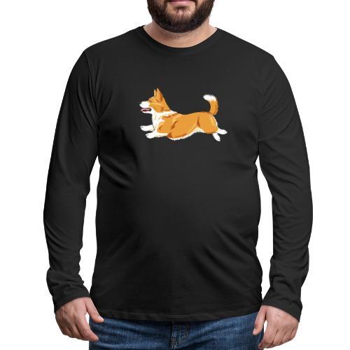 Welshcorgi3 - Miesten premium pitkähihainen t-paita