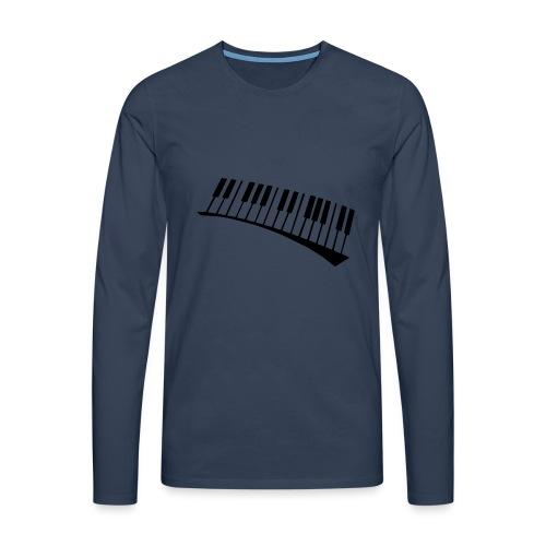 Piano - Camiseta de manga larga premium hombre