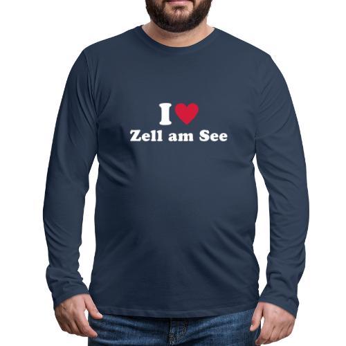 i love zell am see 1 - Mannen Premium shirt met lange mouwen