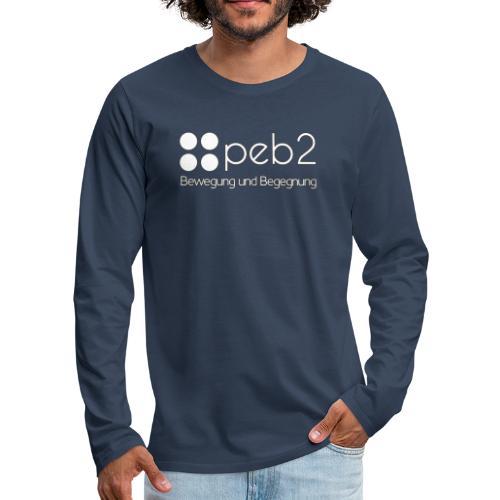 Logo peb2 weiss - Männer Premium Langarmshirt