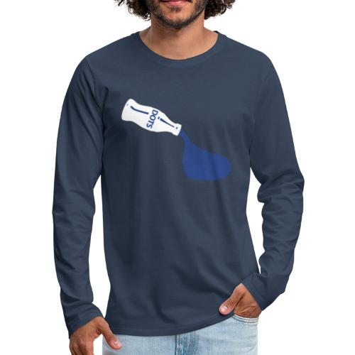 White Bottle Dots - Männer Premium Langarmshirt