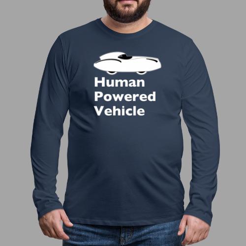 Quattrovelo Human Powered Vehicle white - Miesten premium pitkähihainen t-paita